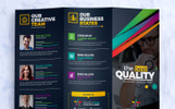 Tri-Fold Brochure Design Template : Square and Tall Version Corporate Identity Template