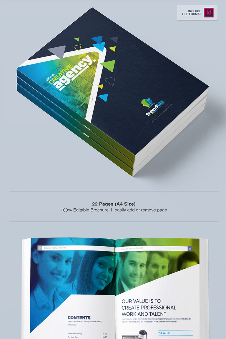 company business brochure indesign corporate identity template big screenshot