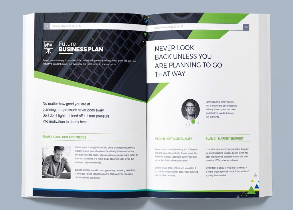 Company Business Brochure InDesign - Corporate Identity Template #67326