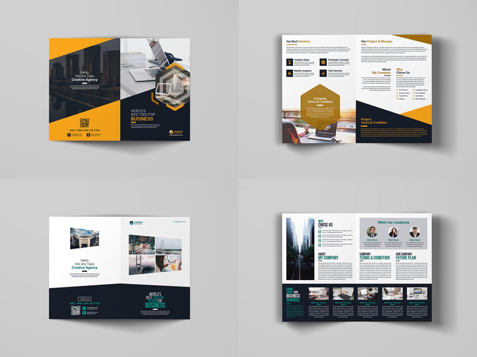 10 bi fold brochure bundle 66825