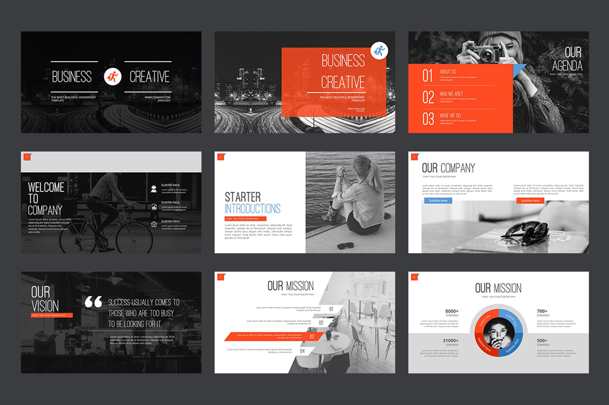 Marketing agency powerpoint template 64617 business creative powerpoint template big screenshot toneelgroepblik Images