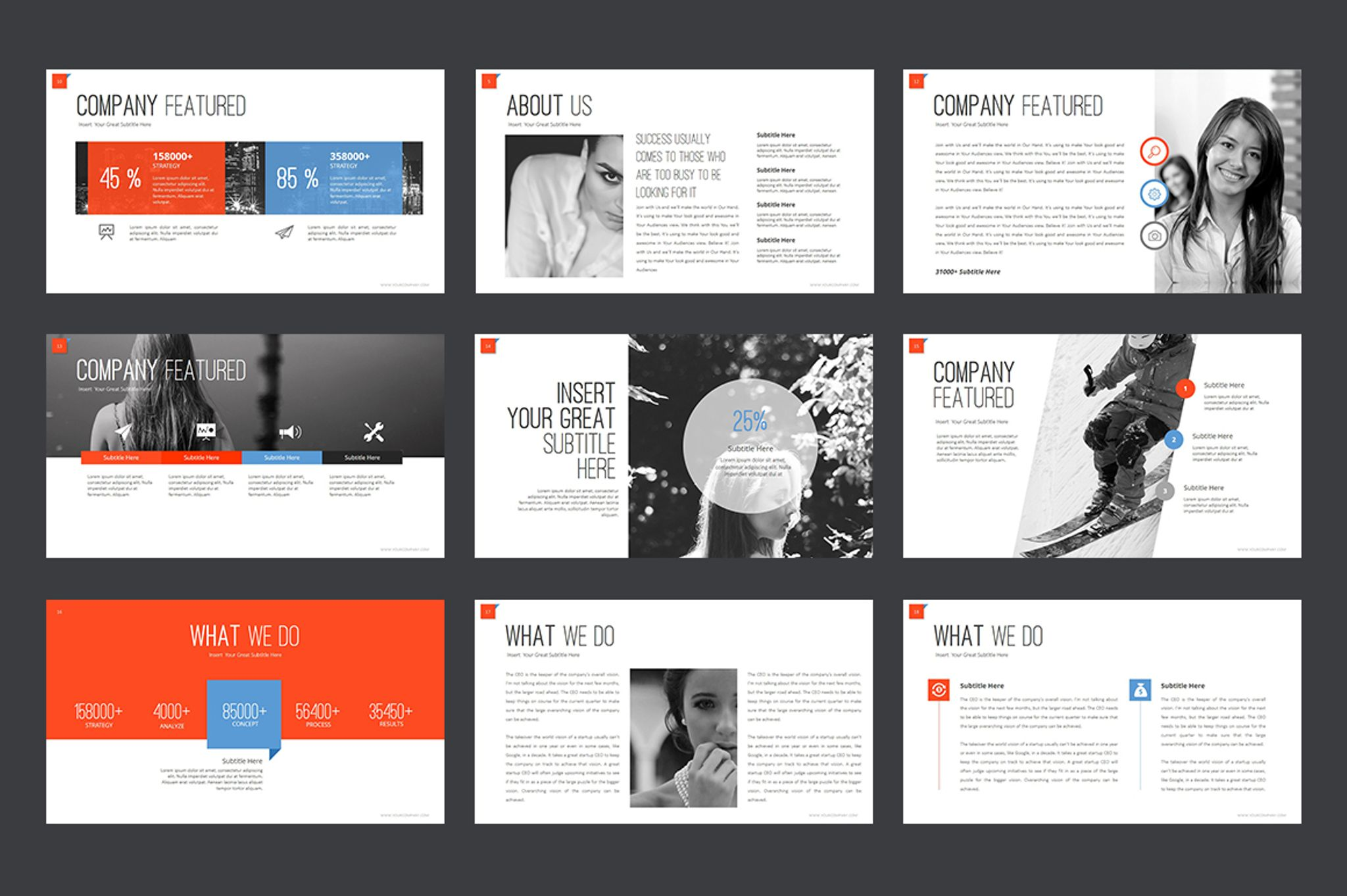 Marketing Agency PowerPoint Template #64617