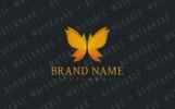 Autumn Butterfly Logo Template