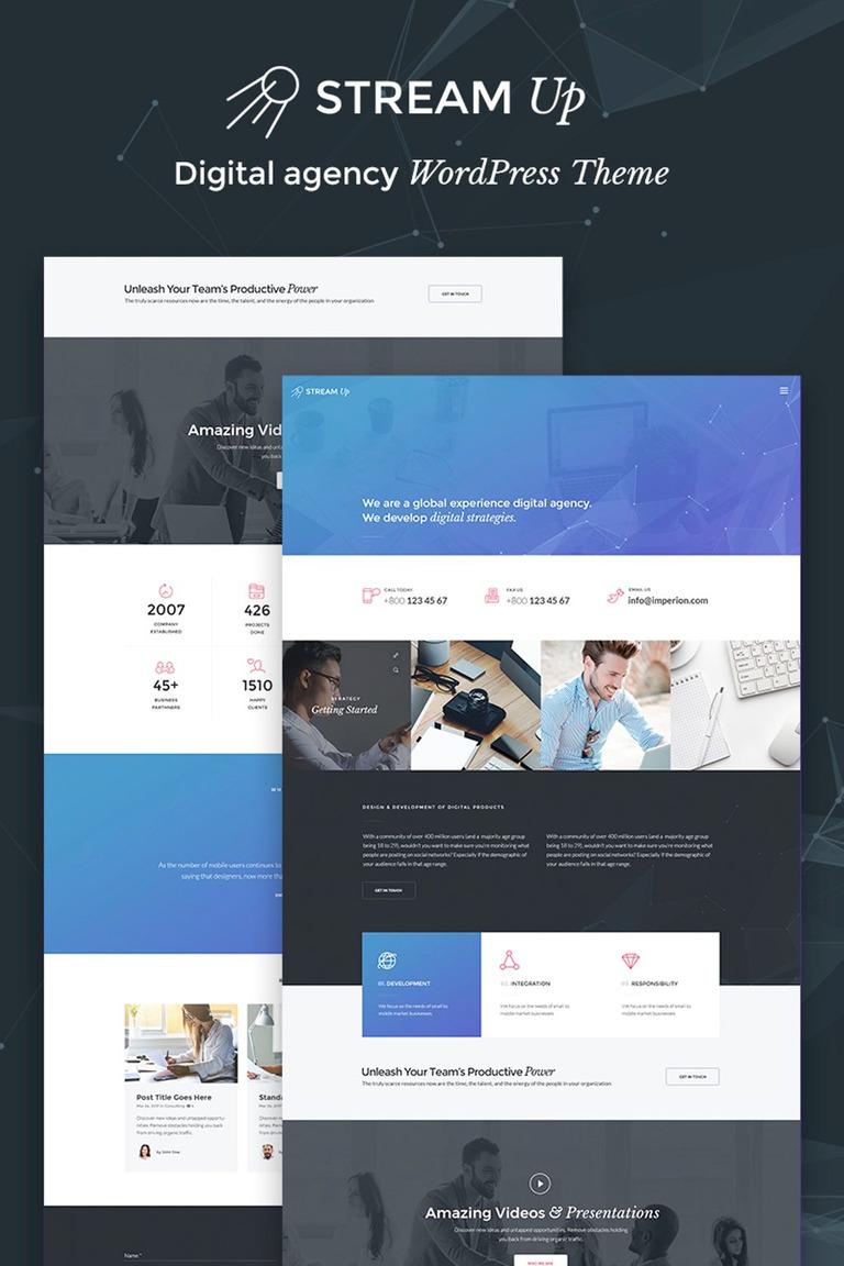 StreamUp - Digital Agency WordPress Theme