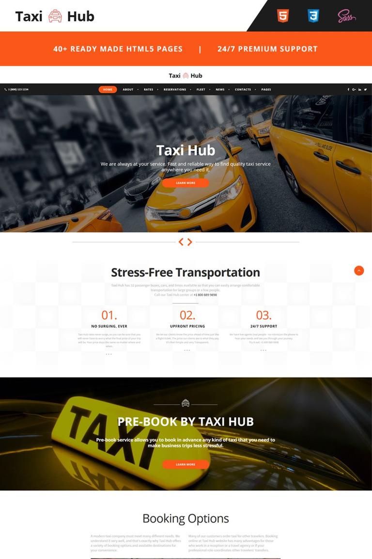 Website Vorlage #66766 für Taxi