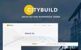 Responsivt CityBuild Architecture Agency WordPress-tema