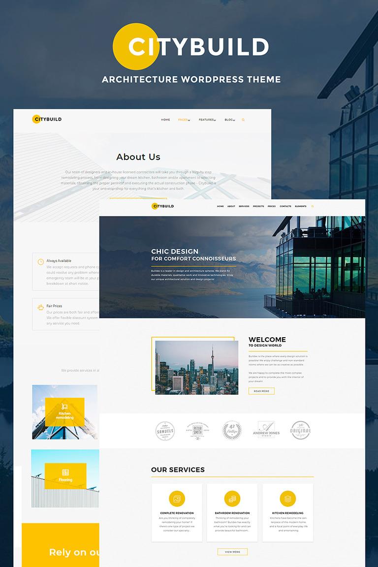 CityBuild Architecture Agency WordPress Theme Big Screenshot
