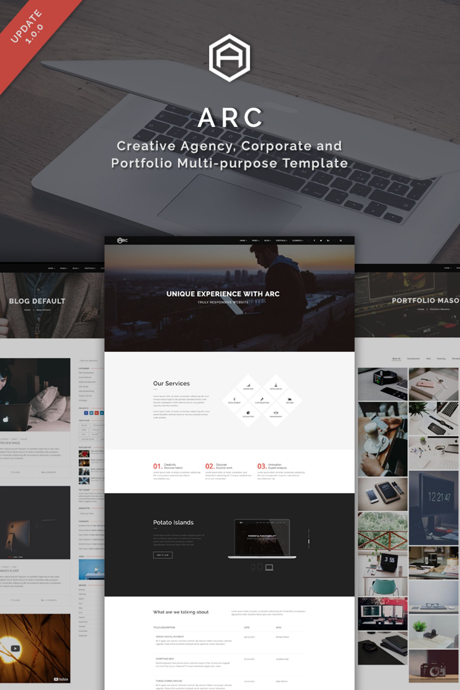 ARC - Creative Agency, Corporate and Portfolio Multi-purpose Website ...