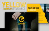 Yellow Company Business Presentation PowerPoint Template
