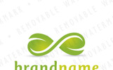 Infinity Leaves Logo Template