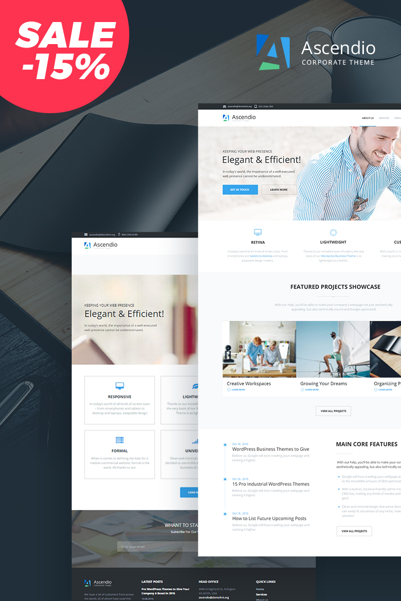 Ascendio - Business & Corporate Drupal Template