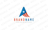 A Abstract America Star Logo Template