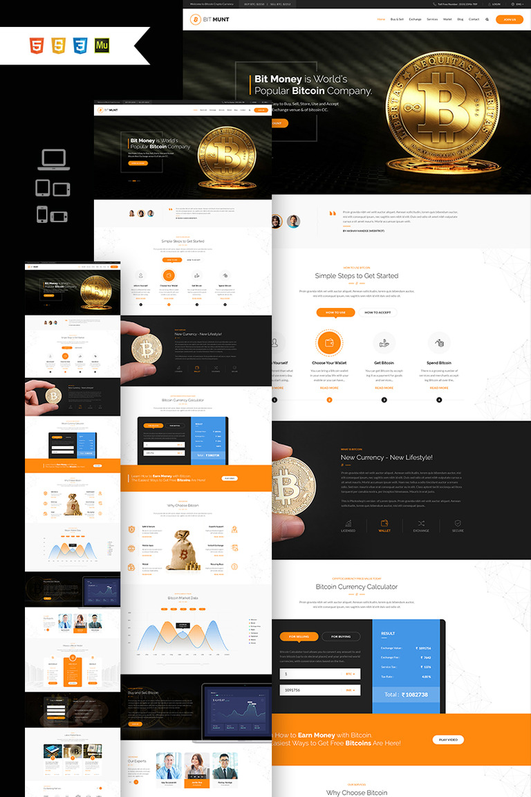 Bit Munt - Bitcoin Crypto Currency Muse Template #66836