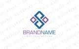 S Square Connection Logo Template