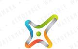 Abstract Cross Loop Logo Template