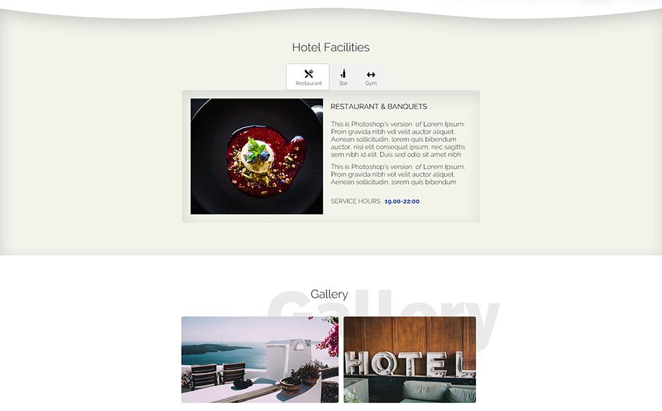 Plantilla PSD #66852 para Sitio de Opiniones sobre hoteles