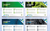 2019 Wall and Desk Calendar Design Corporate Identity Template