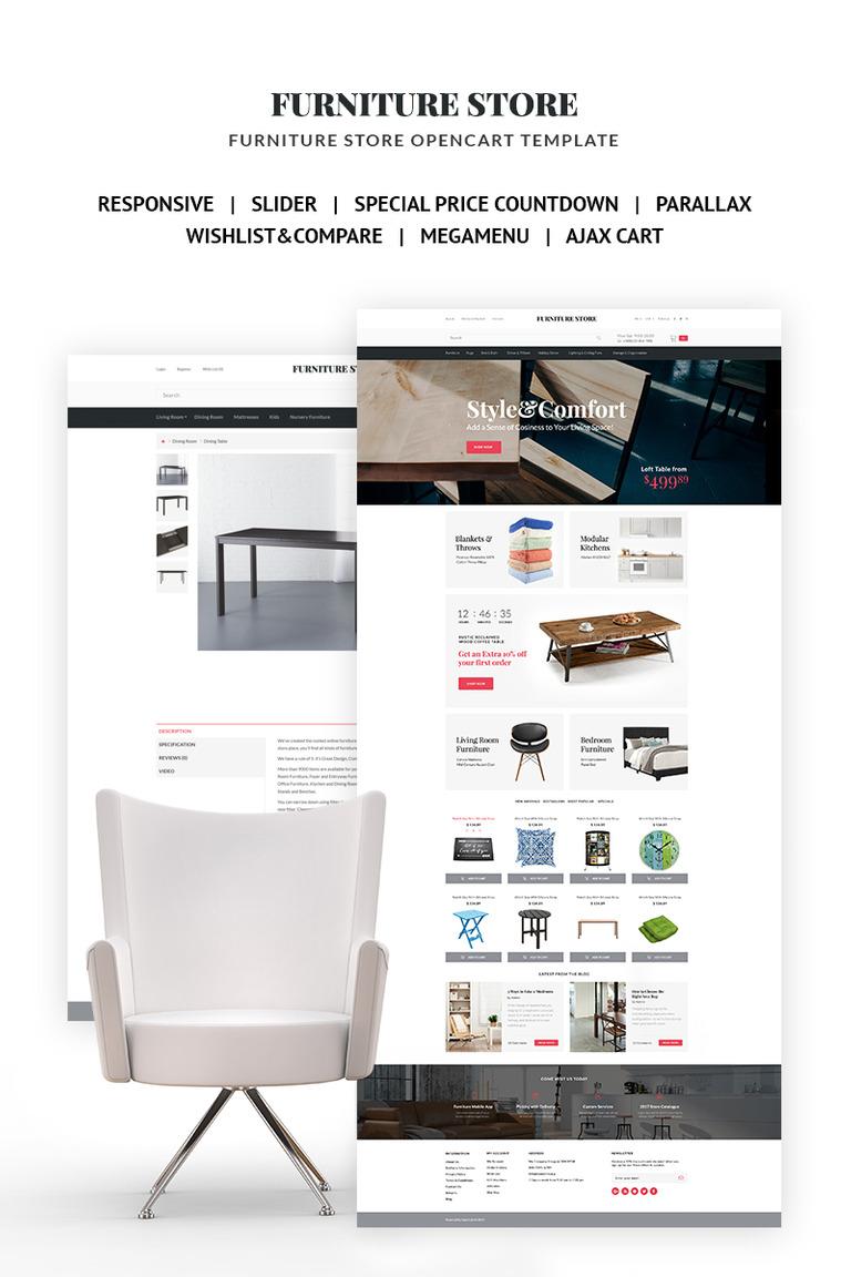 Plantilla OpenCart #66816 para Sitio de Muebles