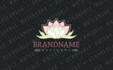 Vintage Lotus Bloom Logo Template