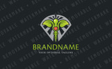 Caduceus Leaves Logo Template
