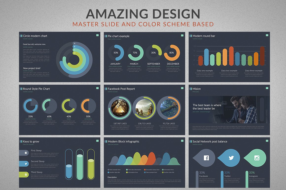 business powerpoint template #64605, Modern powerpoint