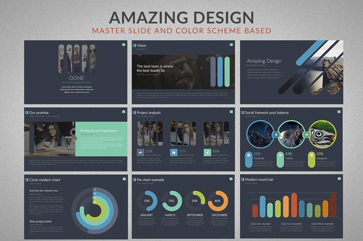 Business powerpoint template 64605 done powerpoint presentation template toneelgroepblik