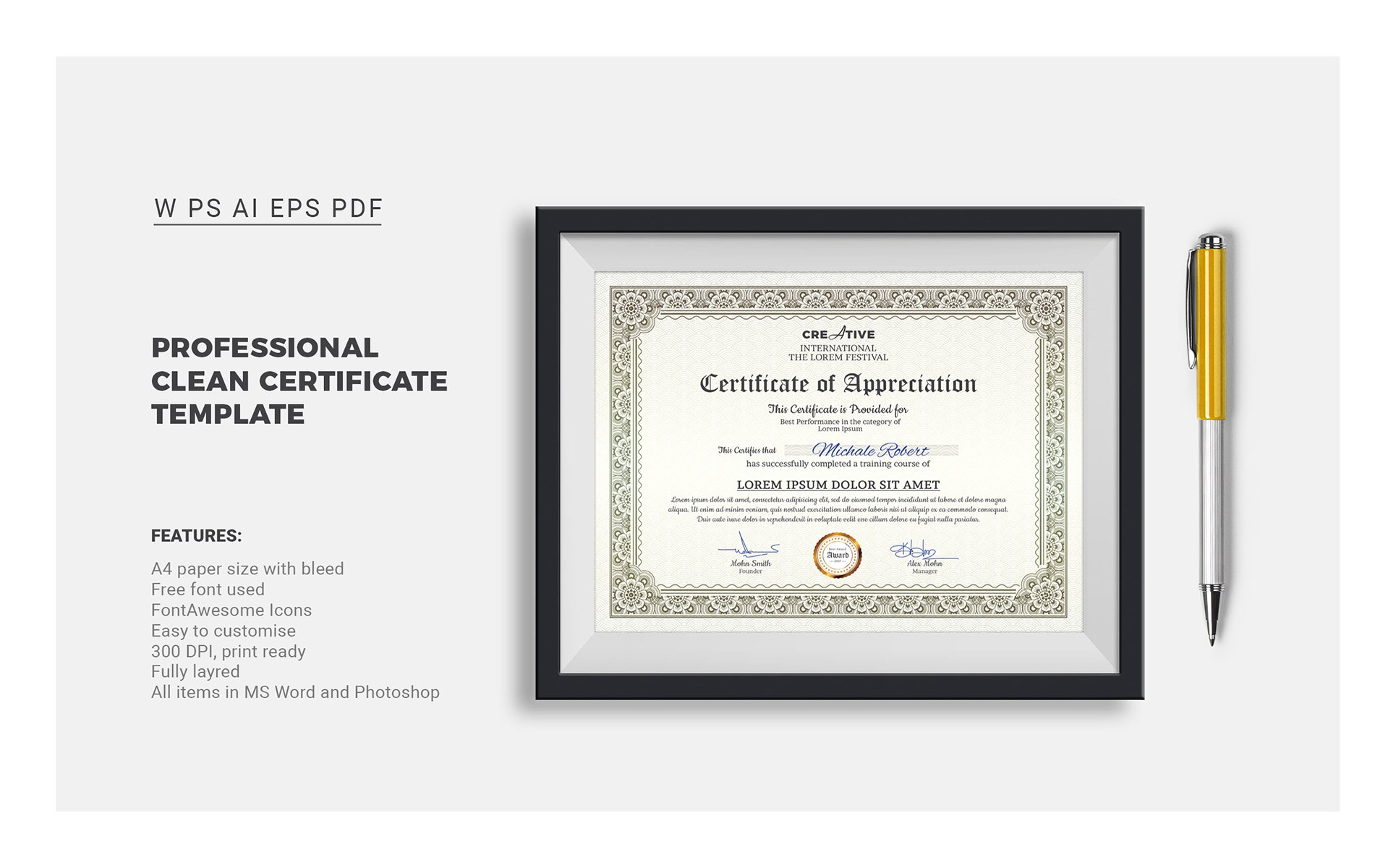 Corporate modern word multipurpose certificate template 66851 corporate modern word multipurpose certificate template alramifo Image collections