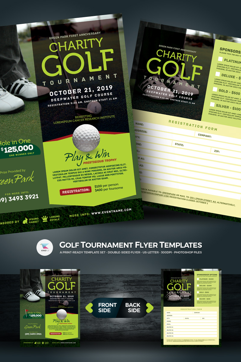 golf tournament flyer psd template  67021