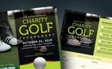 Golf Tournament Flyer PSD Template