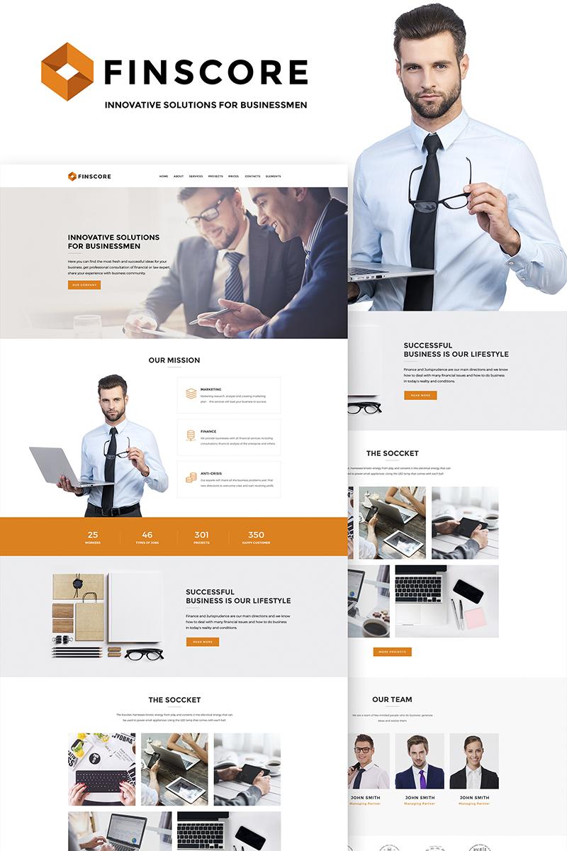 Адаптивный шаблон №66848 на тему бизнес и услуги, консалтинг