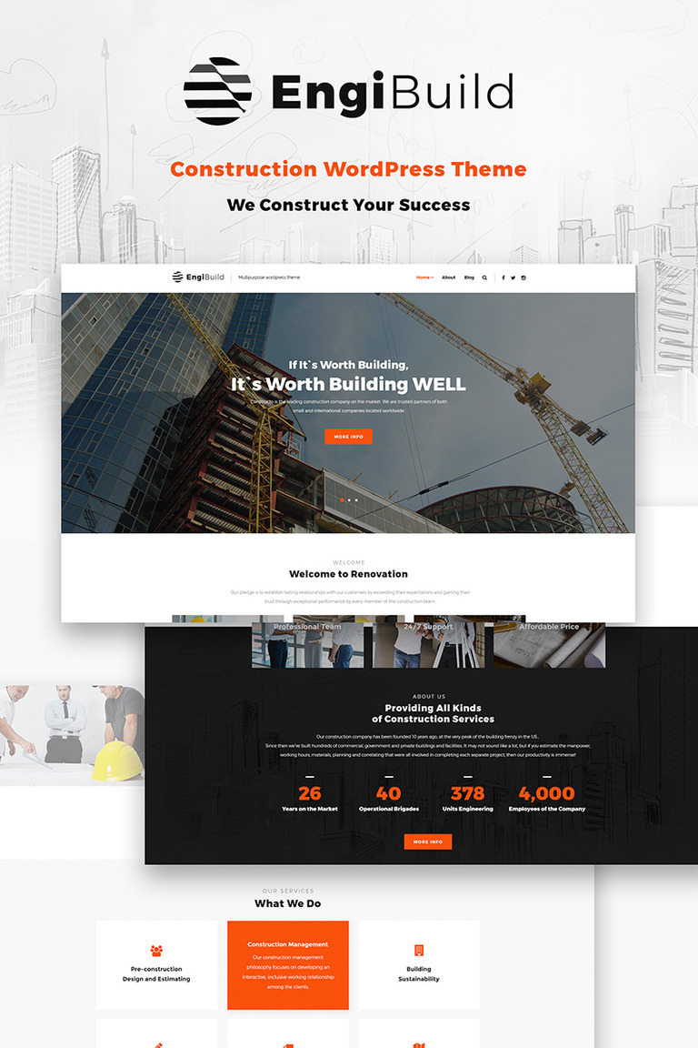 EngiBuild - Construction WordPress Theme