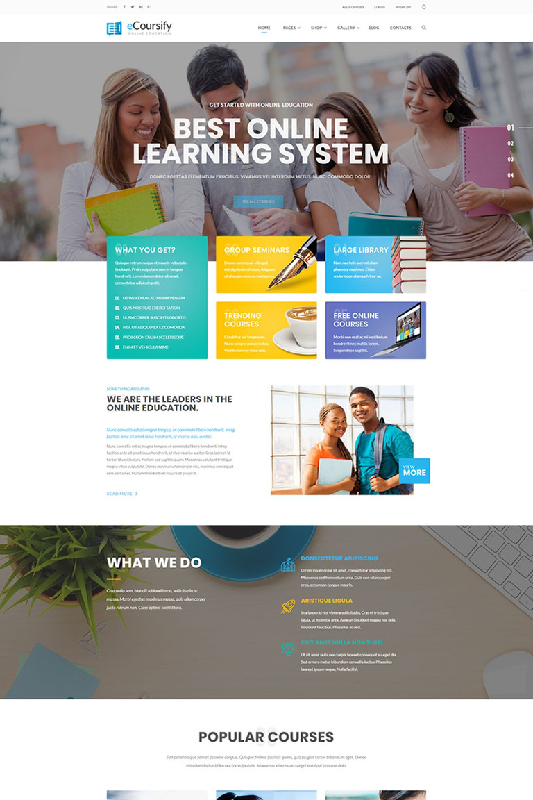 Ecoursify Lms For Online Courses WordPress Theme Screenshot