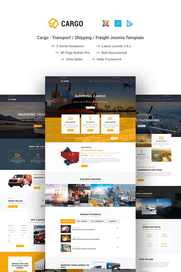 Cargo - Transport / Shipping / Freight Joomla Template