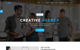 Responsive Logic - Material Design Agency Web Sitesi Şablonu