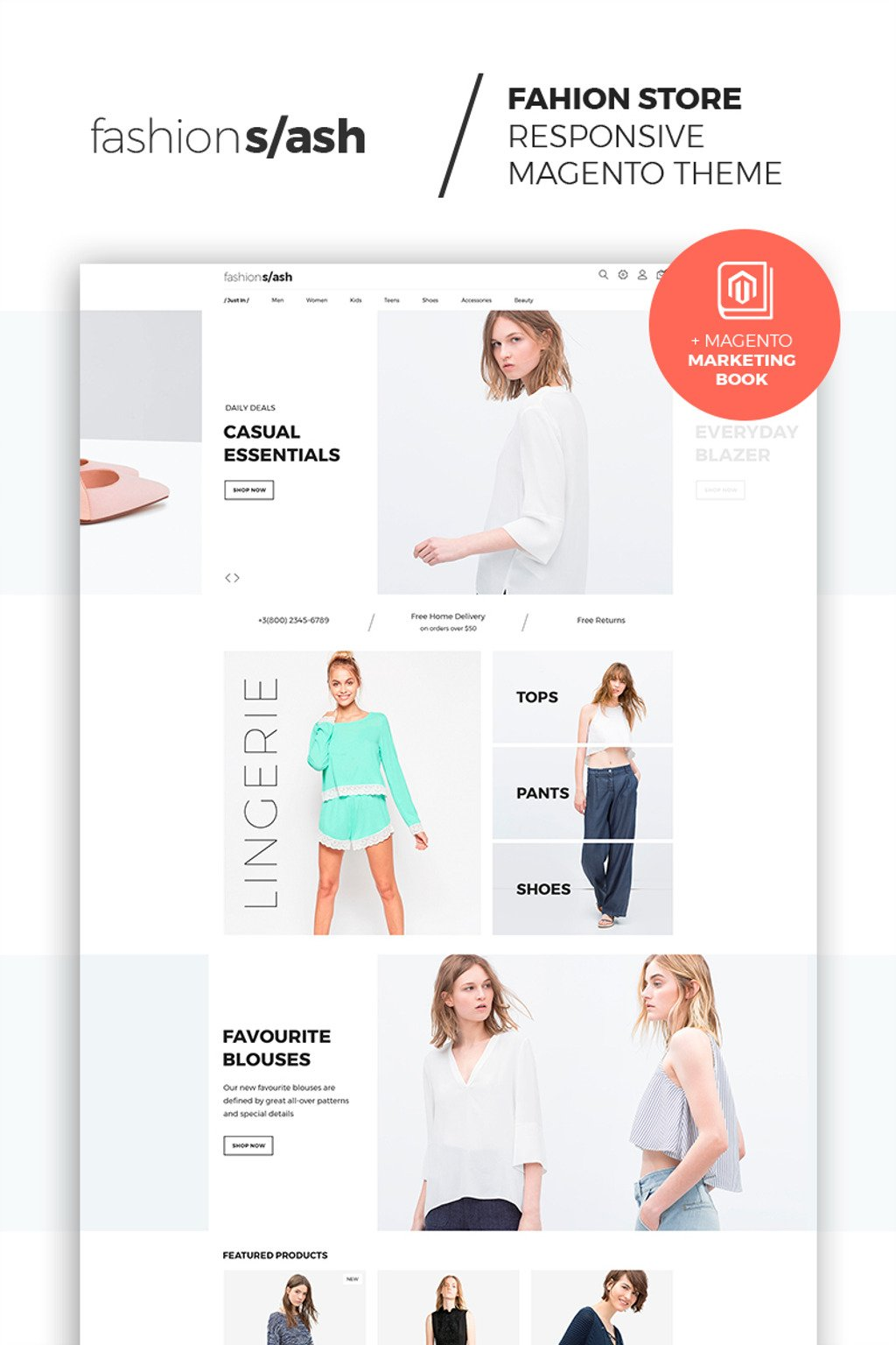 Fashion Slash - AMP Fashion Boutique Magento Theme Big Screenshot