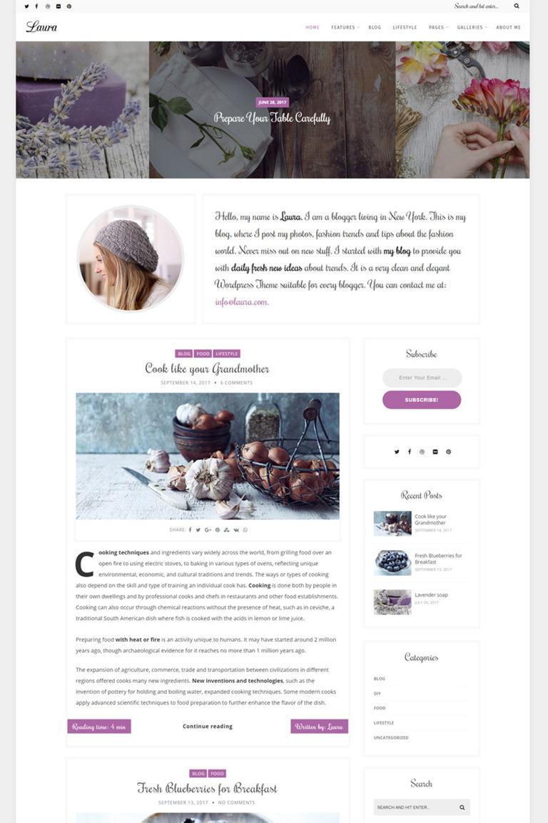 WordPress Theme #67237 für Schönheit