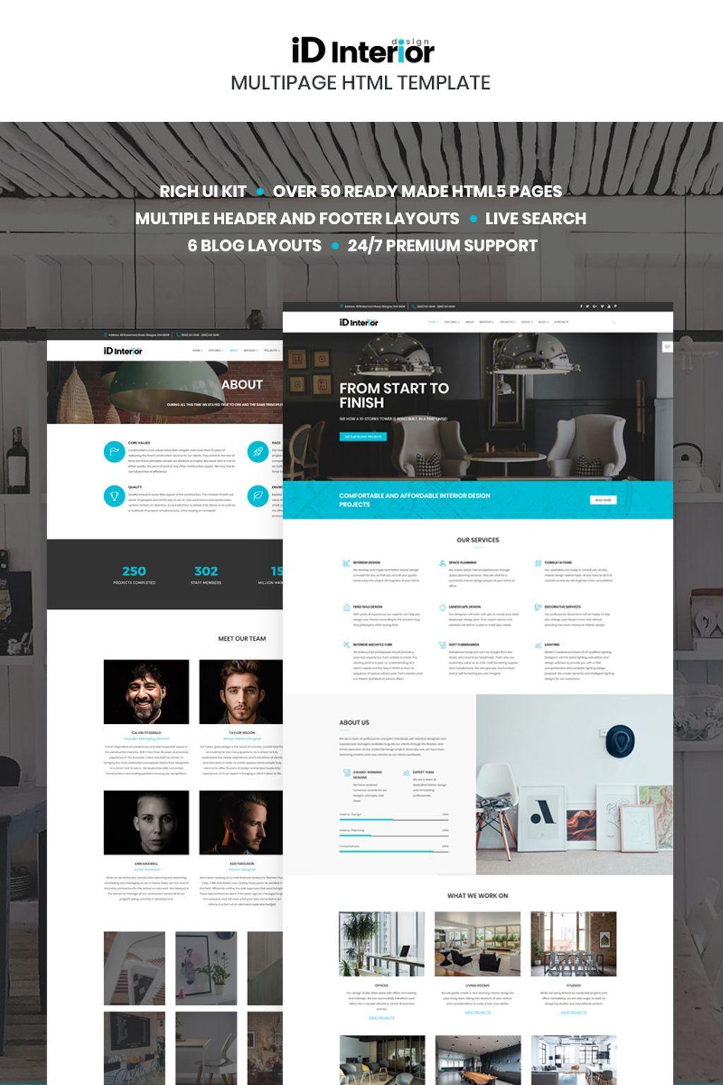 Website vorlage 66865 f r wohndekor for Anforderungen innenarchitekt