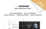 """BikeRond - Bike Shop Responsive"" 响应式Shopify模板"