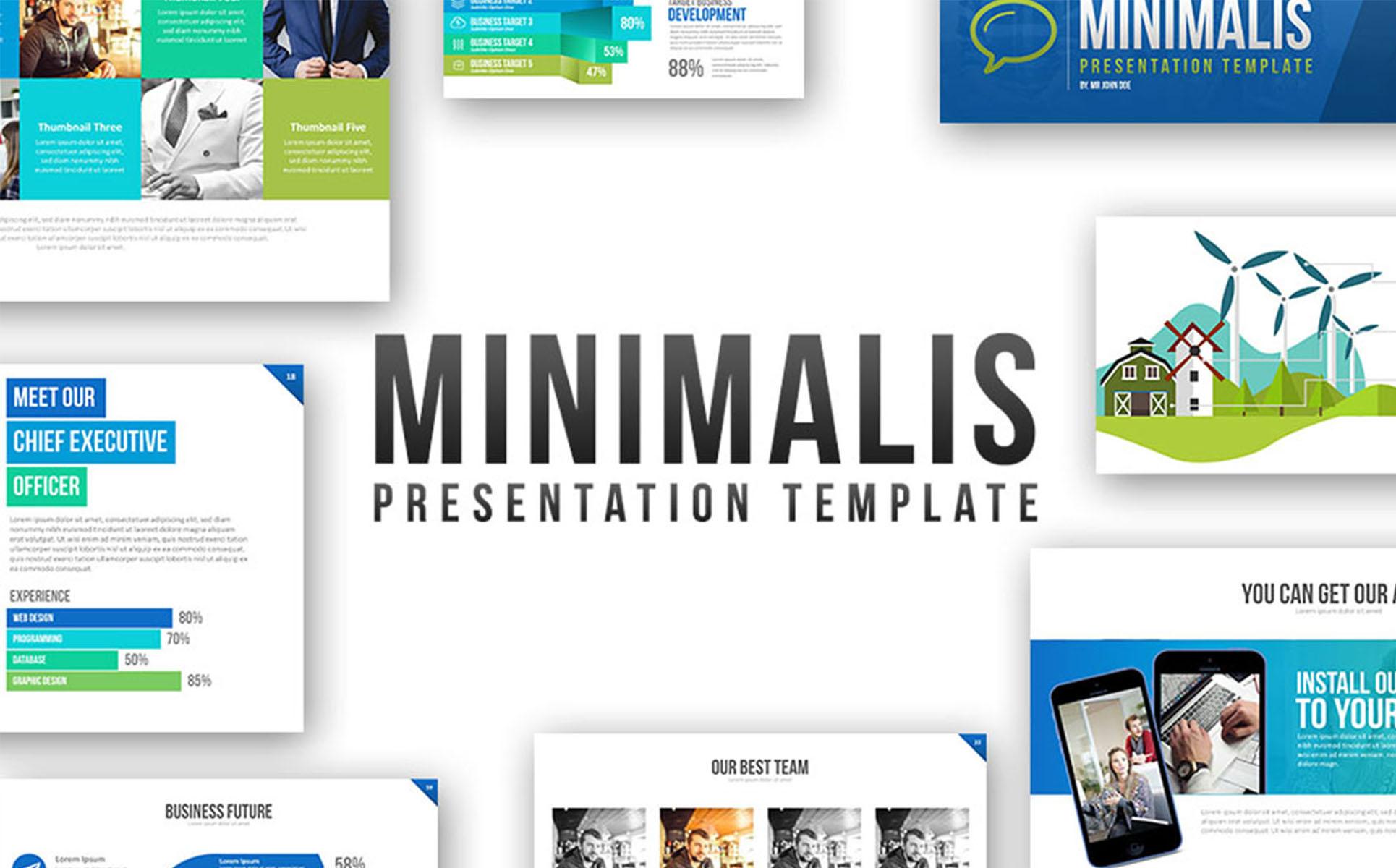 minimalis powerpoint template powerpoint template #64631, Modern powerpoint