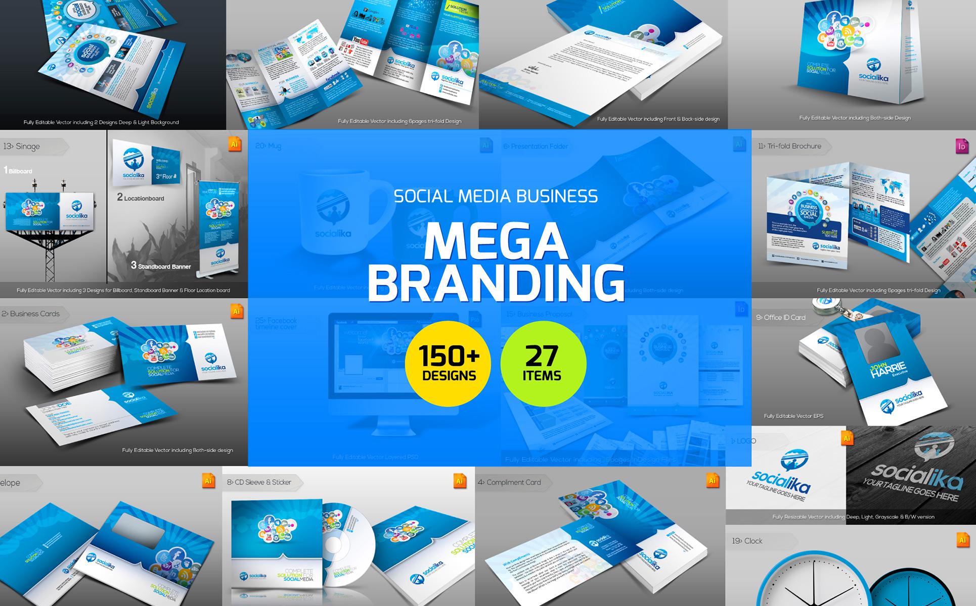Social media branding corporate identity template 66909 zoom in maxwellsz