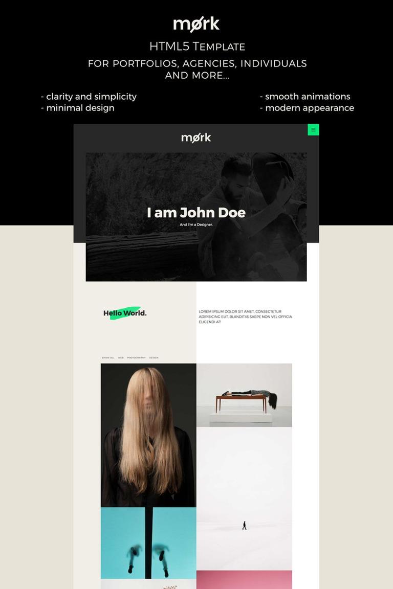 Website Vorlage #67065 für Designer Portfolio