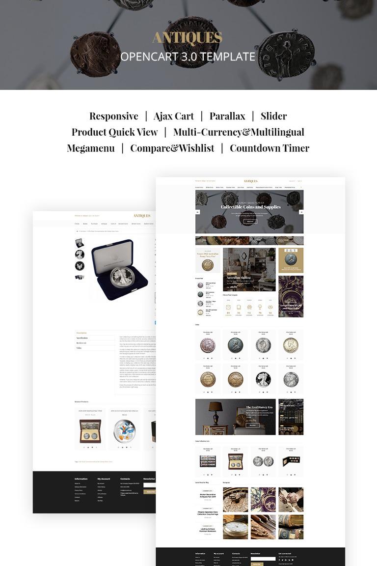 OpenCart Vorlage #66883 für Antiquitätenladen