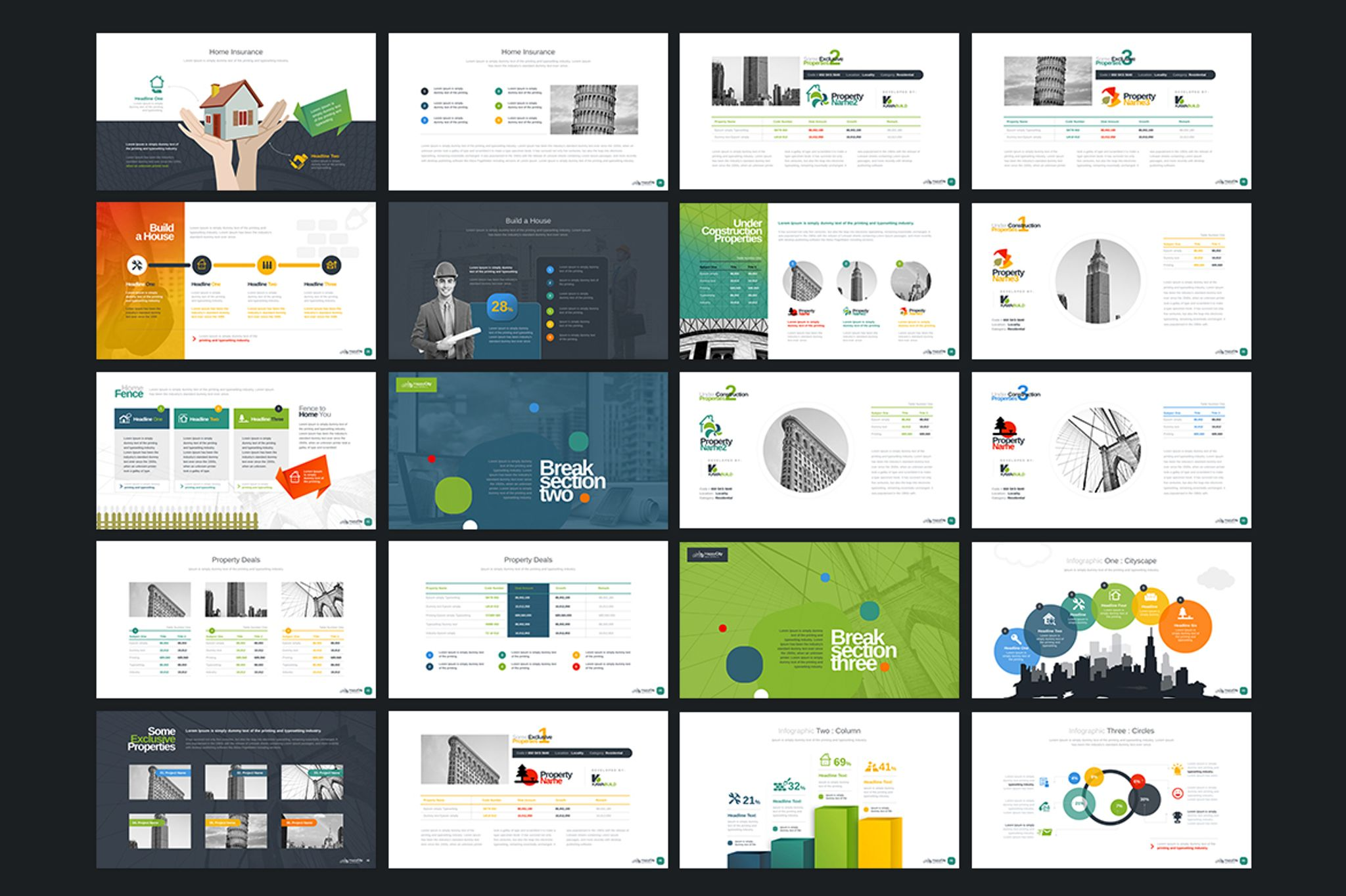 Real estate construction powerpoint template 67134 real estate construction powerpoint template big screenshot alramifo Images