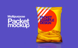 Plastic Pouch Bag Packaging Product Mockup