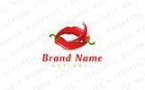 Chili Pepper Lips Logo Template