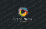 Abstract Blended Media Logo Template