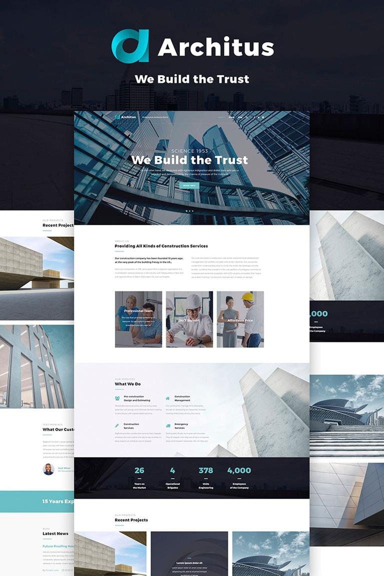 Architus - Construction WordPress Theme New Screenshots BIG