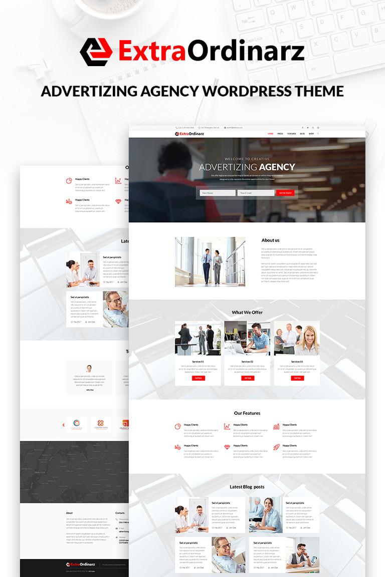 ExtraOrdinarz - Advertising Agency WordPress Theme