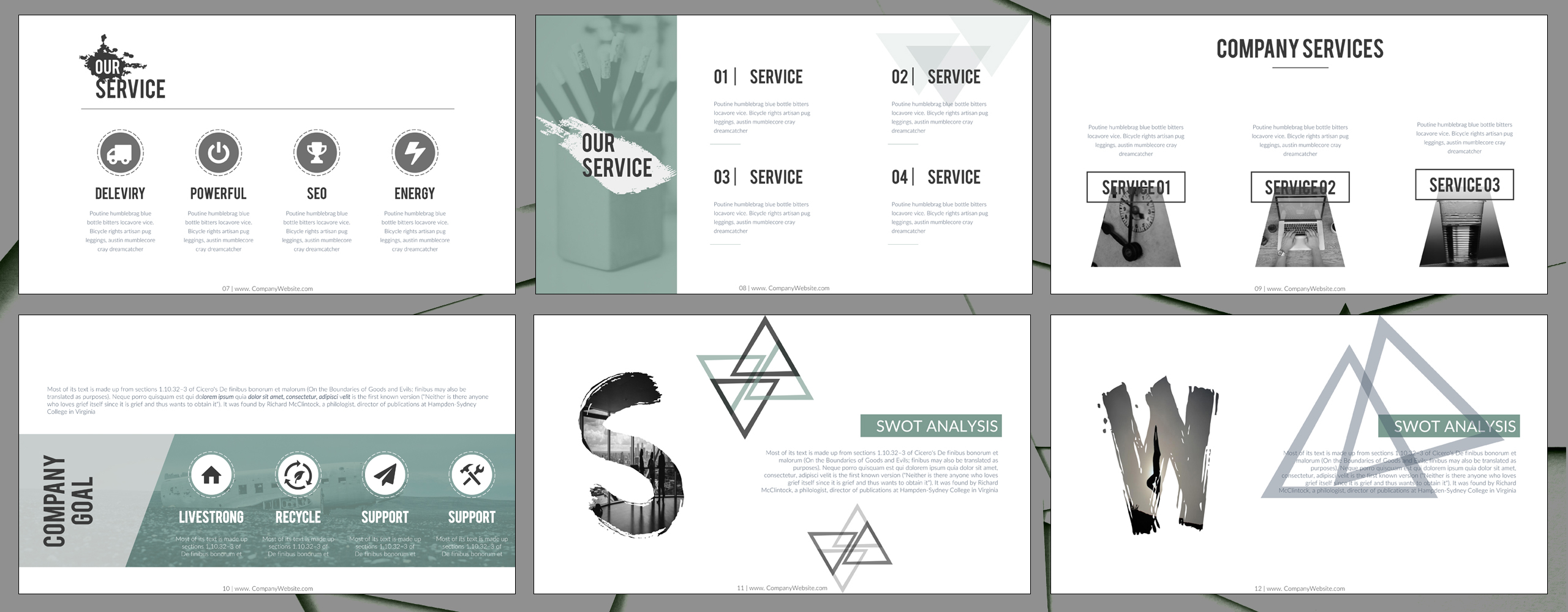 Office Powerpoint Template 64634
