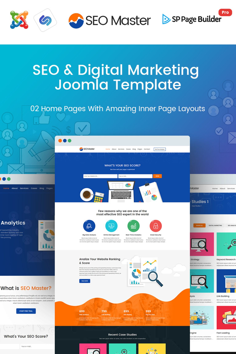 SEO Master - SEO & Digital Marketing Agency Joomla Template #67058